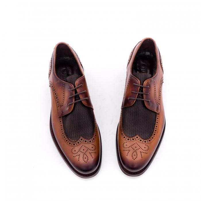 Pantofi barbati eleganti piele naturala Otter YE185, maro 4