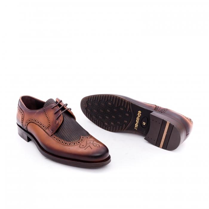 Pantofi barbati eleganti piele naturala Otter YE185, maro 2