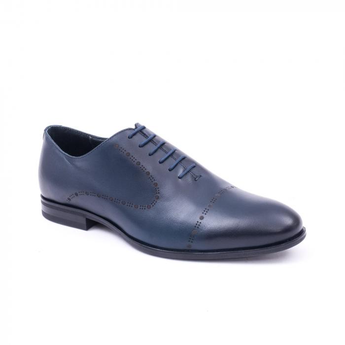Pantof elegant barbati LFX 934 bleumarin 0