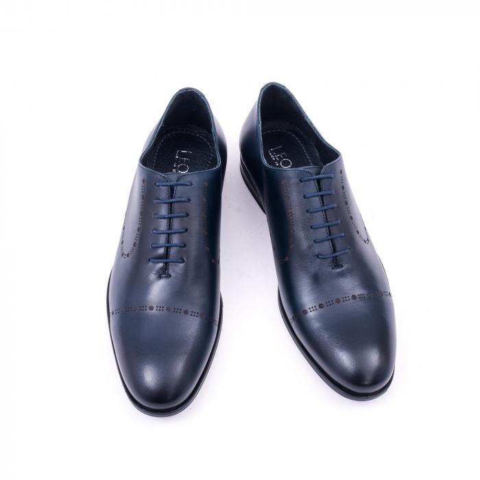 Pantof elegant barbati LFX 934 bleumarin 5