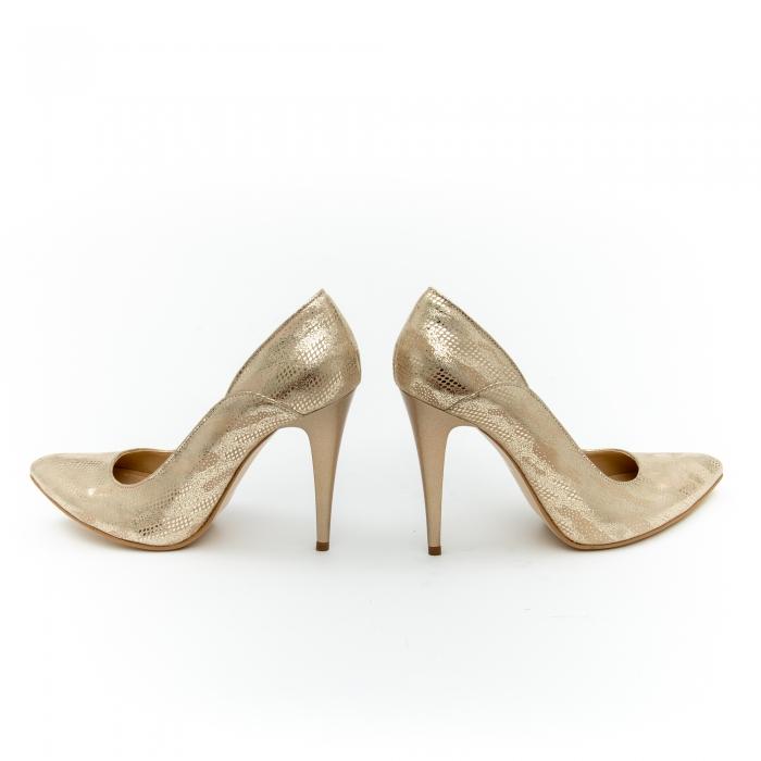 Pantof elegant dama 1106 auriu 4