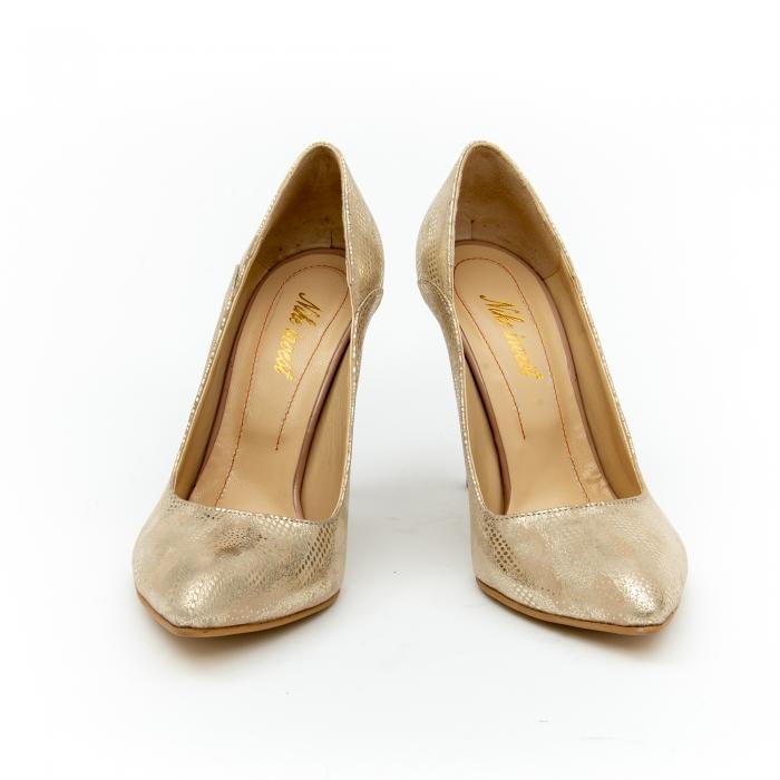 Pantof elegant dama 1106 auriu 3