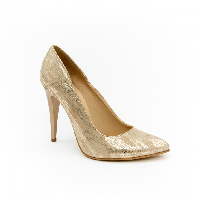 Pantof elegant dama 1106 auriu 0