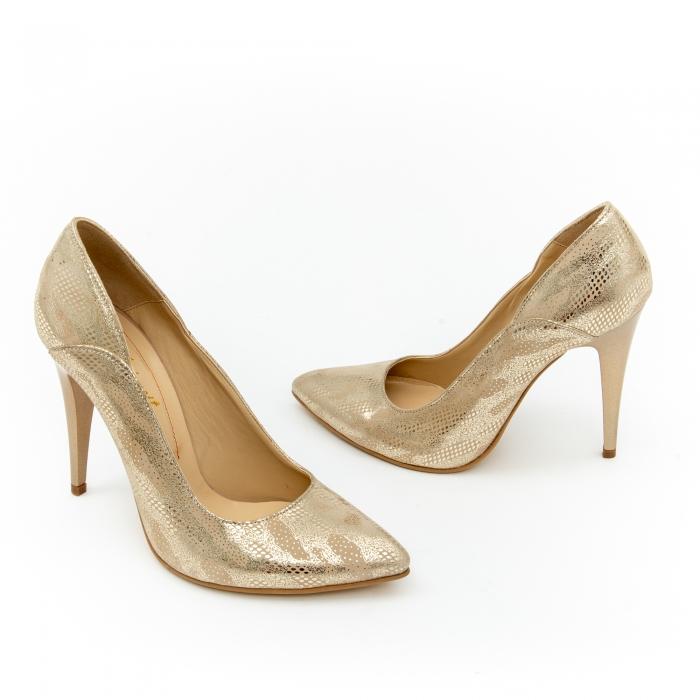 Pantof elegant dama 1106 auriu 2