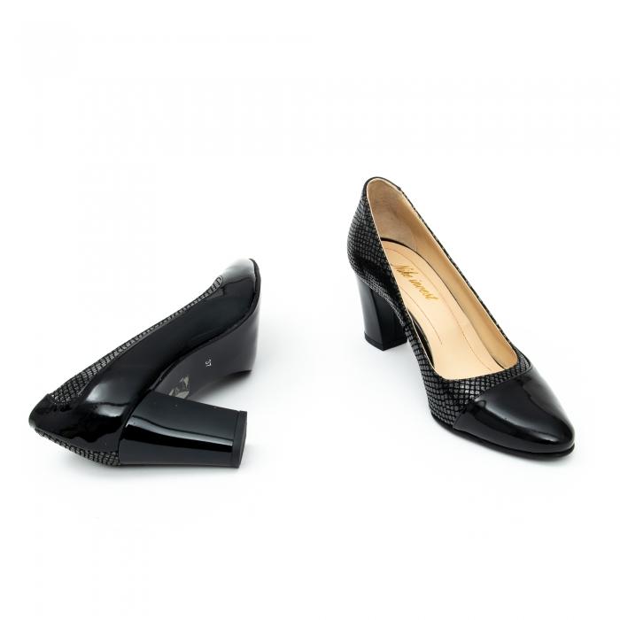Pantof elegant dama cod 1012 negru lac 3
