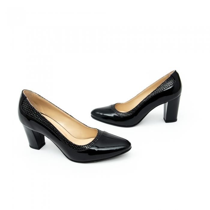 Pantof elegant dama cod 1012 negru lac 4