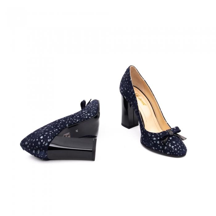 Pantof elegant dama -cod 1110 BGE  bleumarin glitter 3