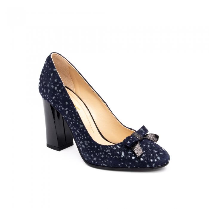 Pantof elegant dama -cod 1110 BGE  bleumarin glitter 0