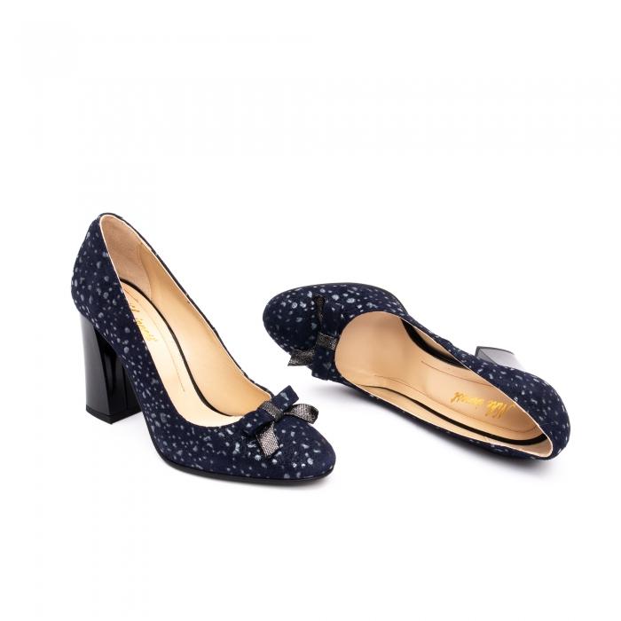 Pantof elegant dama -cod 1110 BGE  bleumarin glitter 2