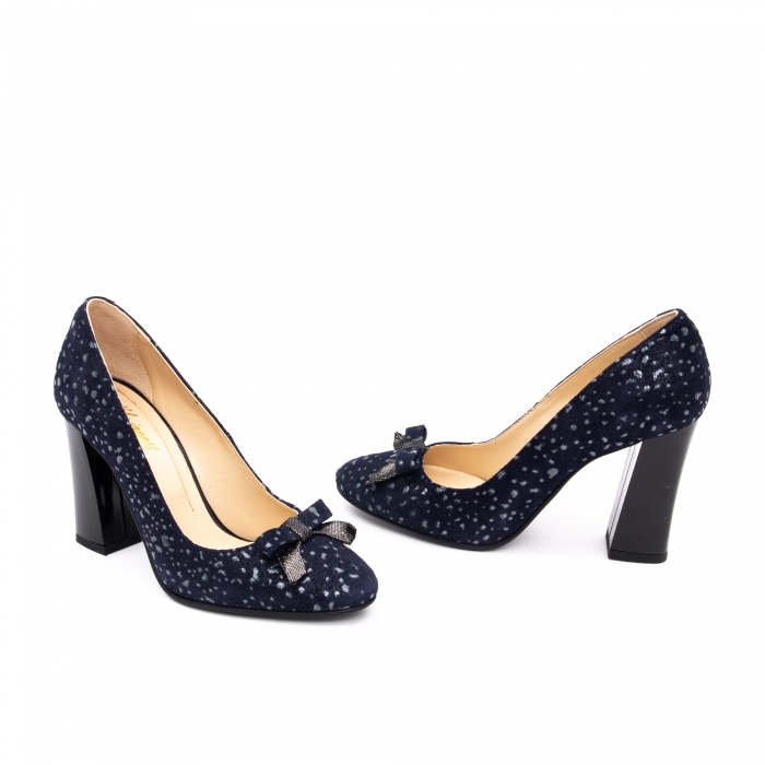 Pantof elegant dama -cod 1110 BGE  bleumarin glitter 1