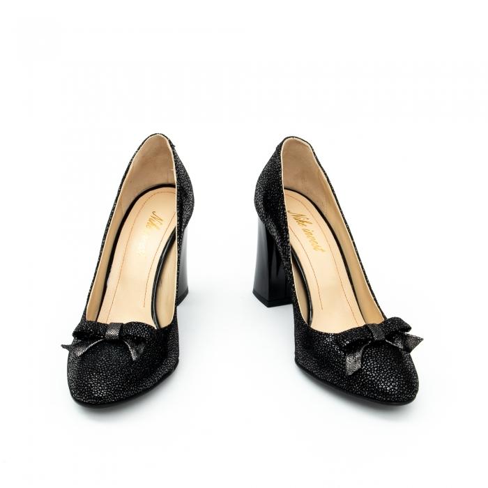 Pantof elegant dama -cod 1110 negru  glitter 4