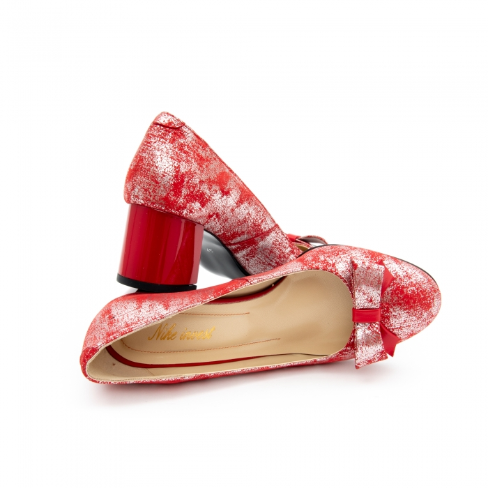 Pantof elegant dama -cod 1111 rosu 4