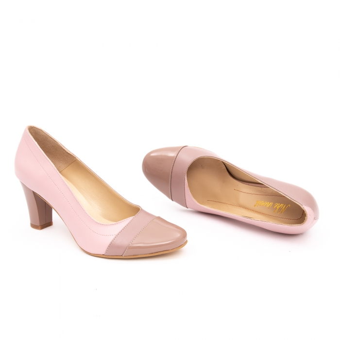 Pantof elegant dama -cod BBLB16 nude -crem 1