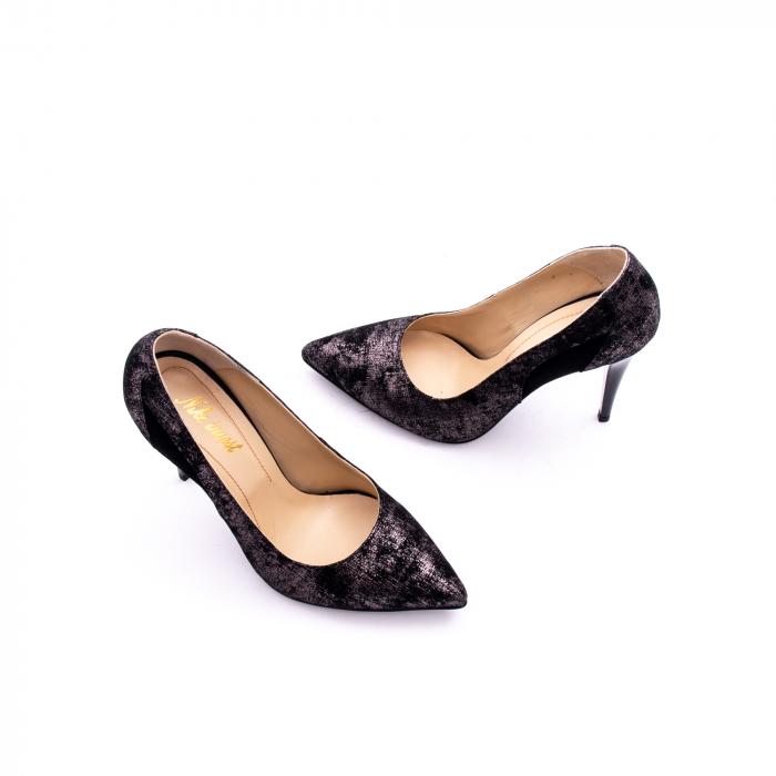 Pantof elegant dama marca Nike Invest 1167 negru argintiu 1