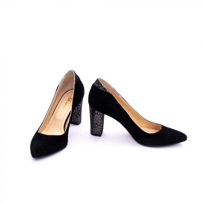 Pantof elegant dama marca Nike Invest 1167 negru argintiu 3