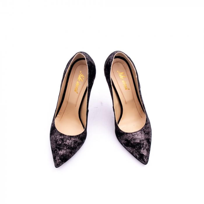 Pantof elegant dama marca Nike Invest 1167 negru argintiu 4