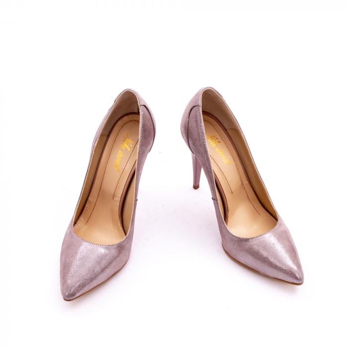 Pantof elegant dama marca Nike Invest 1167 nude-roze argintiu 3