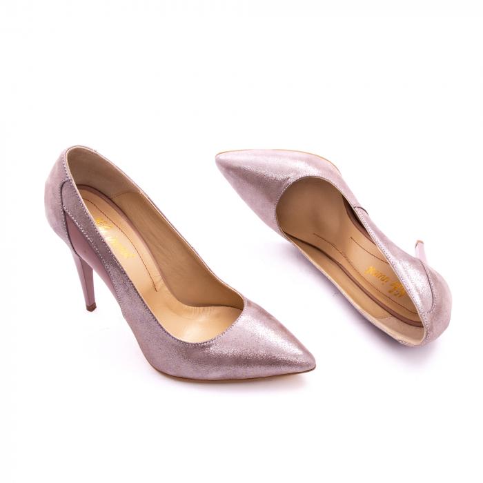 Pantof elegant dama marca Nike Invest 1167 nude-roze argintiu 2