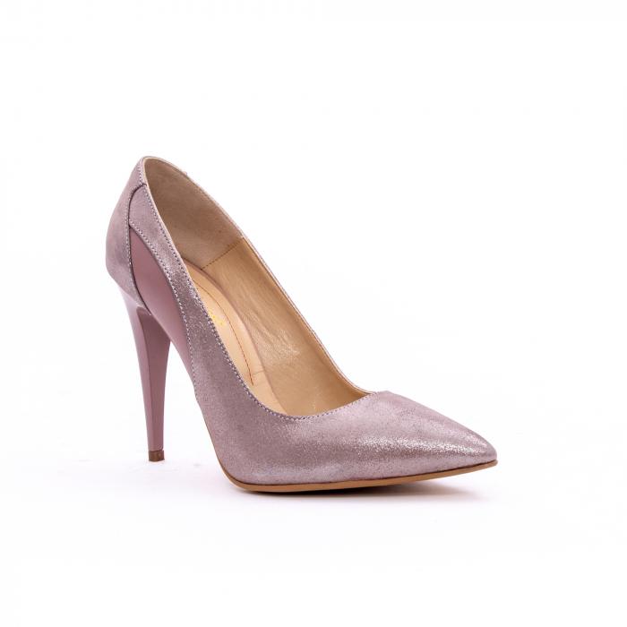 Pantof elegant dama marca Nike Invest 1167 nude-roze argintiu 0