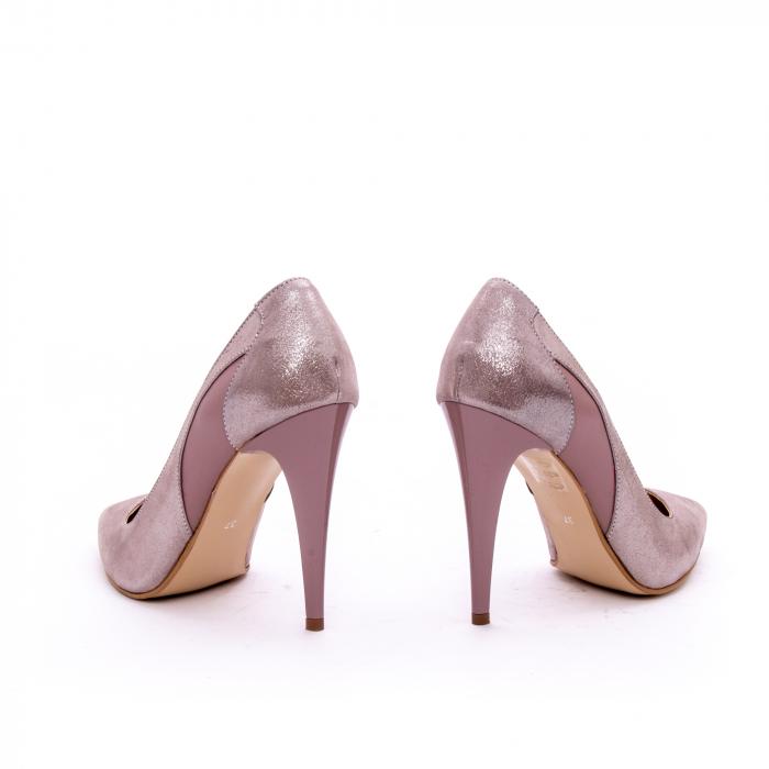 Pantof elegant dama marca Nike Invest 1167 nude-roze argintiu 4