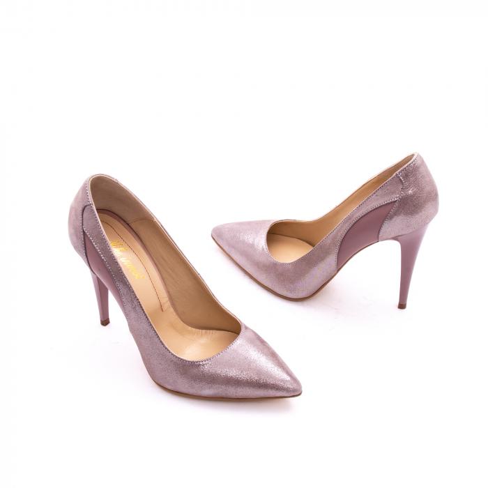 Pantof elegant dama marca Nike Invest 1167 nude-roze argintiu 1