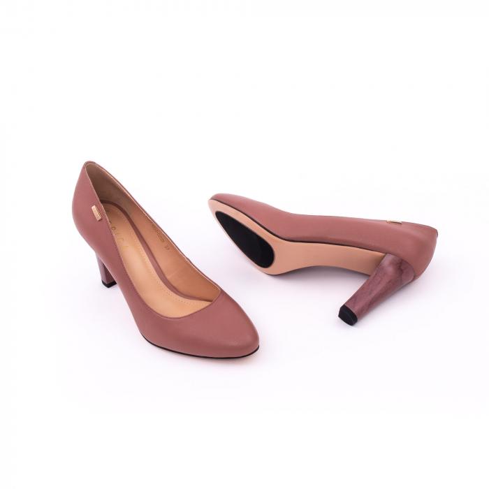 Pantofi dama eleganti, piele naturala, Epica 0305-C200A, roz prafuit inchis 1