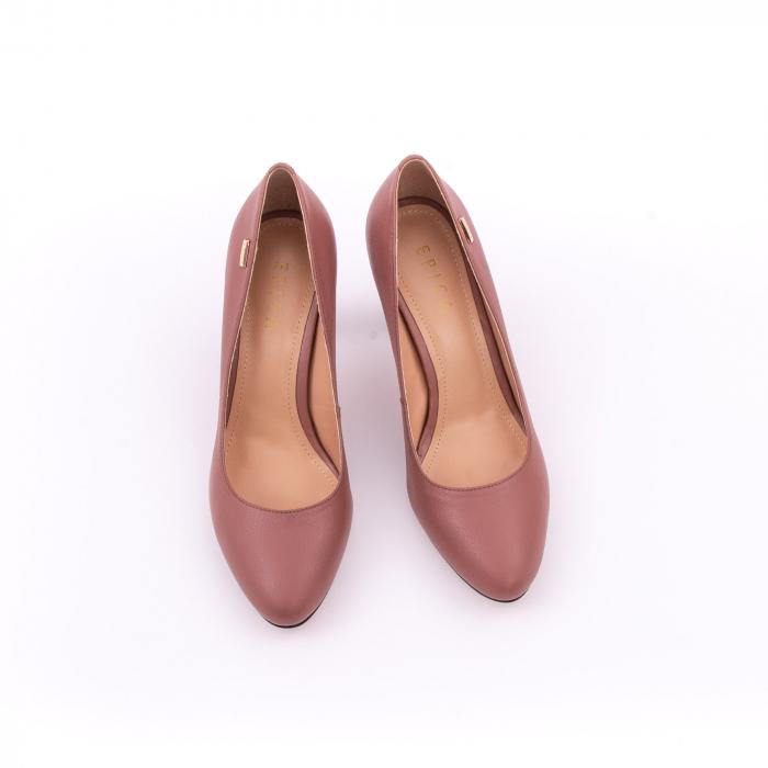 Pantofi dama eleganti, piele naturala, Epica 0305-C200A, roz prafuit inchis 4