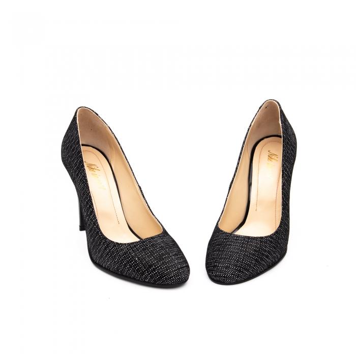 Pantof elegant stiletto -cod 1112 AN negru piper 3