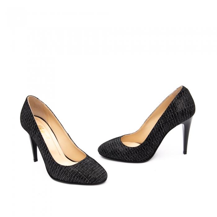 Pantof elegant stiletto -cod 1112 AN negru piper 2