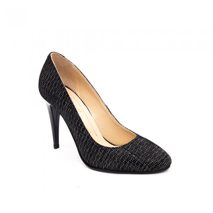 Pantof elegant stiletto -cod 1112 AN negru piper 0