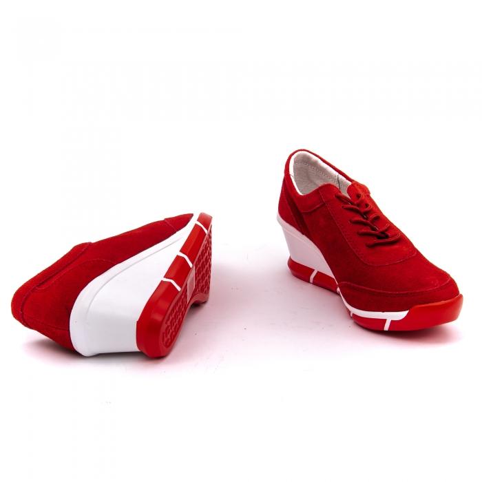 Pantof sport dama cod VK-F001-441 red suede 3