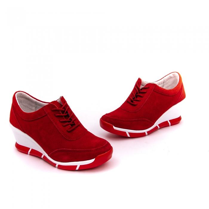 Pantof sport dama cod VK-F001-441 red suede 2
