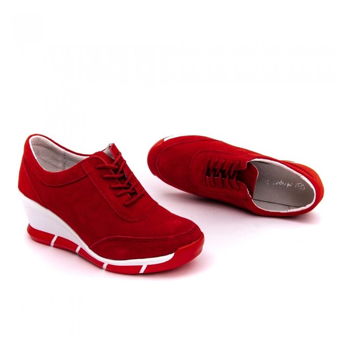Pantof sport dama cod VK-F001-441 red suede 1