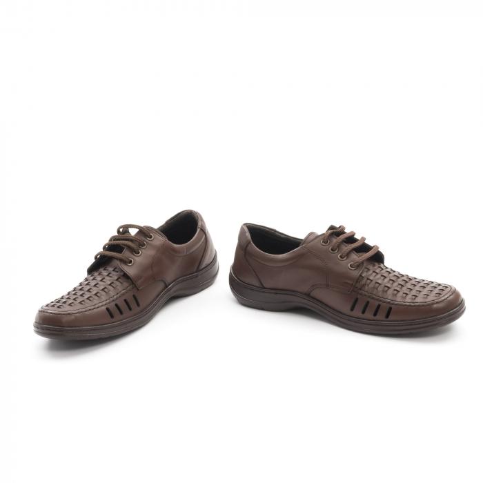 Pantofi barbati vara, piele naturala, Otter 149 C4-N, maro 4