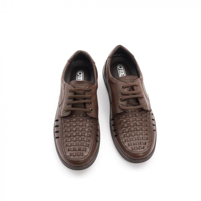 Pantofi barbati vara, piele naturala, Otter 149 C4-N, maro 5