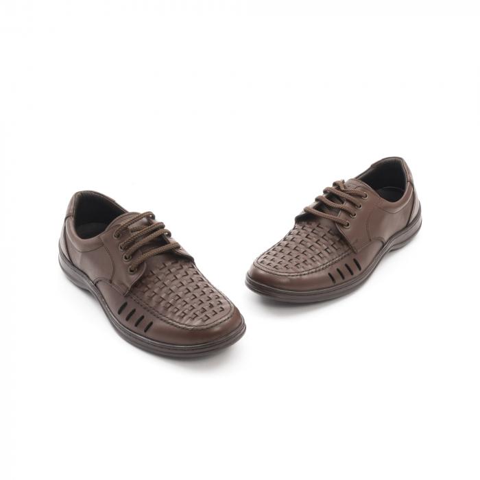 Pantofi barbati vara, piele naturala, Otter 149 C4-N, maro 1