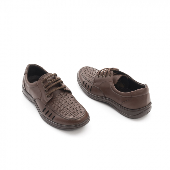 Pantofi barbati vara, piele naturala, Otter 149 C4-N, maro 3