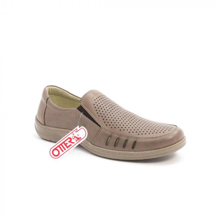 Pantofi barbati casual,  piele naturala, Otter 150 03-N, taupe 0