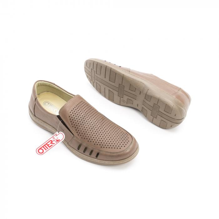 Pantofi barbati casual,  piele naturala, Otter 150 03-N, taupe 3
