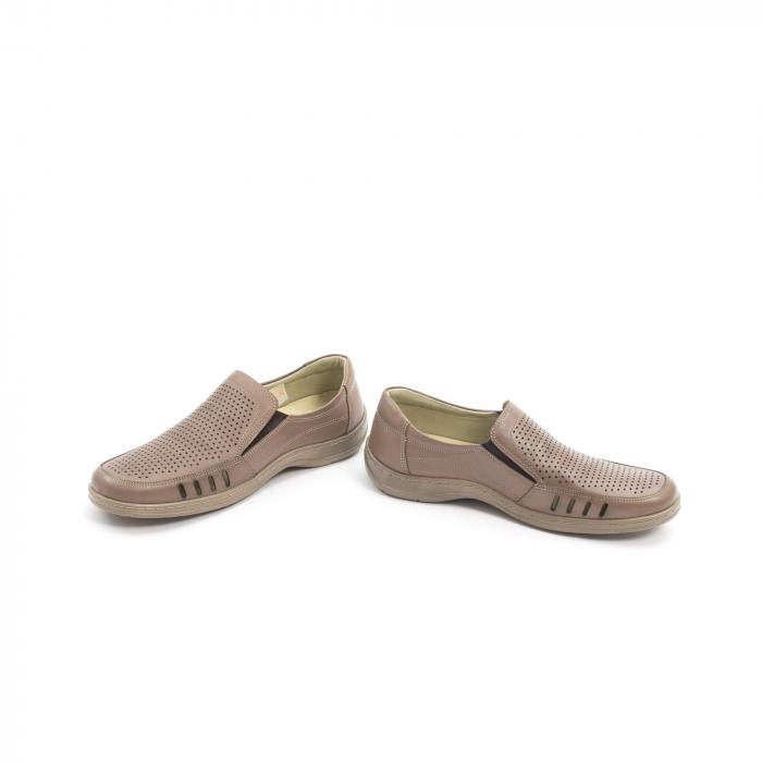 Pantofi barbati casual,  piele naturala, Otter 150 03-N, taupe 4