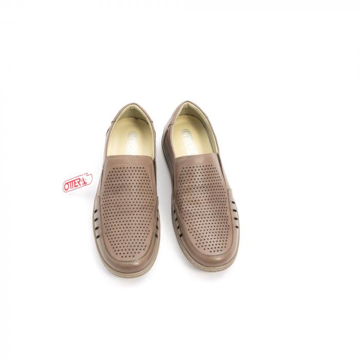 Pantofi barbati casual,  piele naturala, Otter 150 03-N, taupe 5
