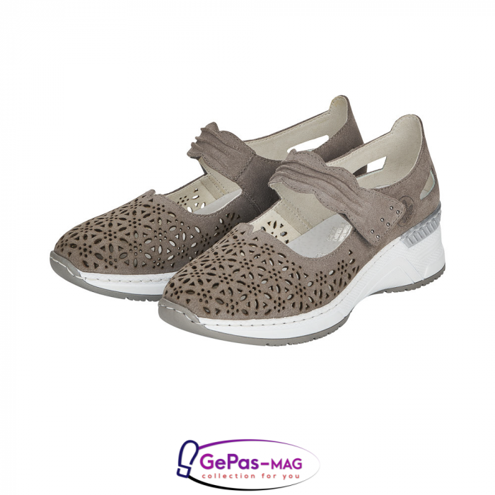 Pantofi vara dama, piele naturala de antilopa, N4367-42 [5]