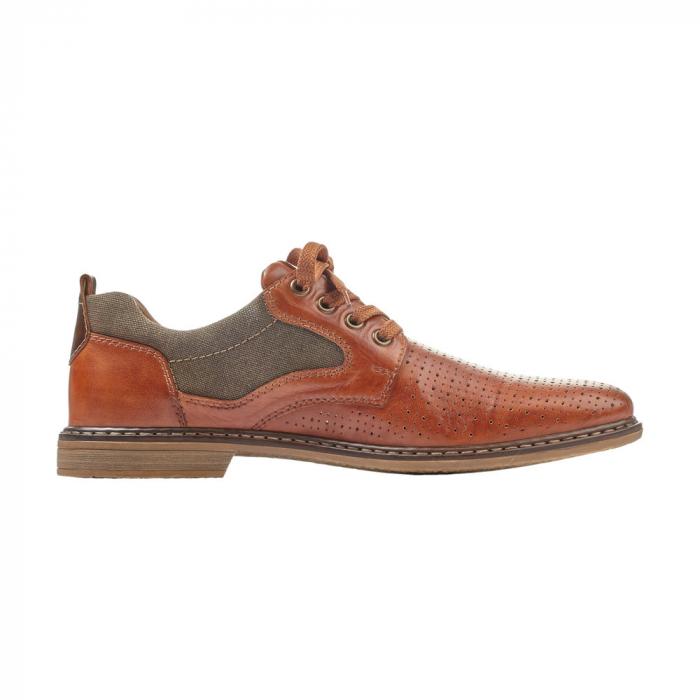 Pantofi barbati din piele naturala Rieker 13417-24, maro 1