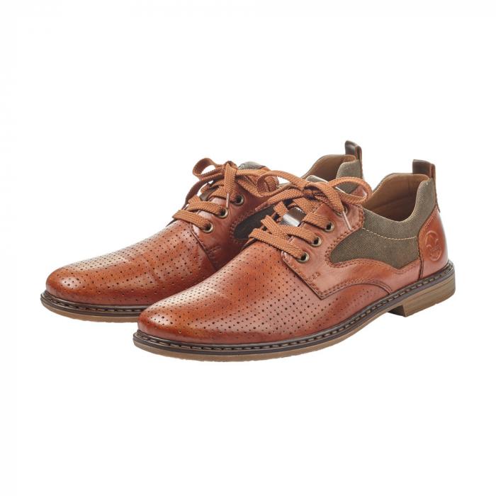 Pantofi barbati din piele naturala Rieker 13417-24, maro 2
