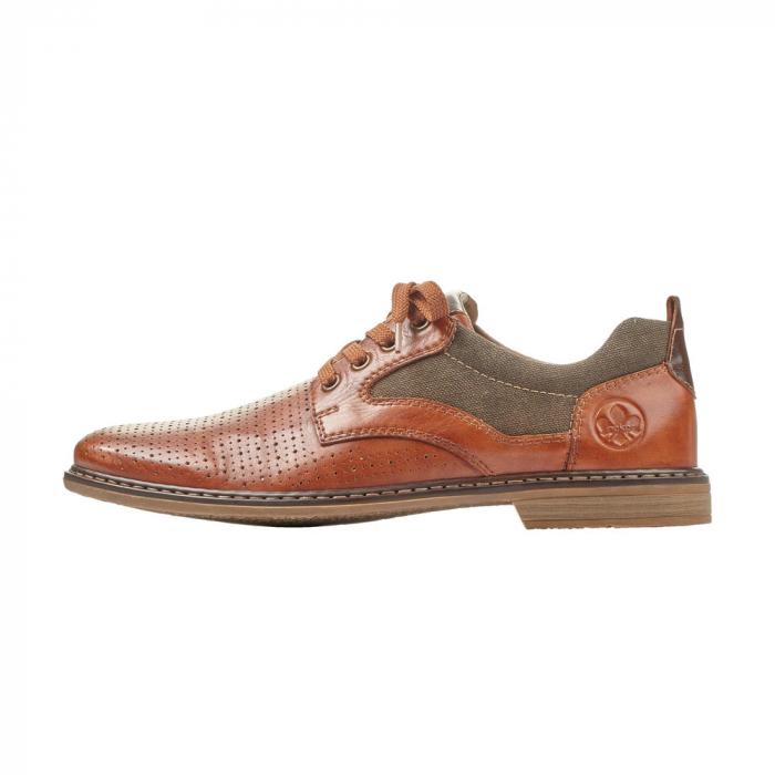 Pantofi barbati din piele naturala Rieker 13417-24, maro 4