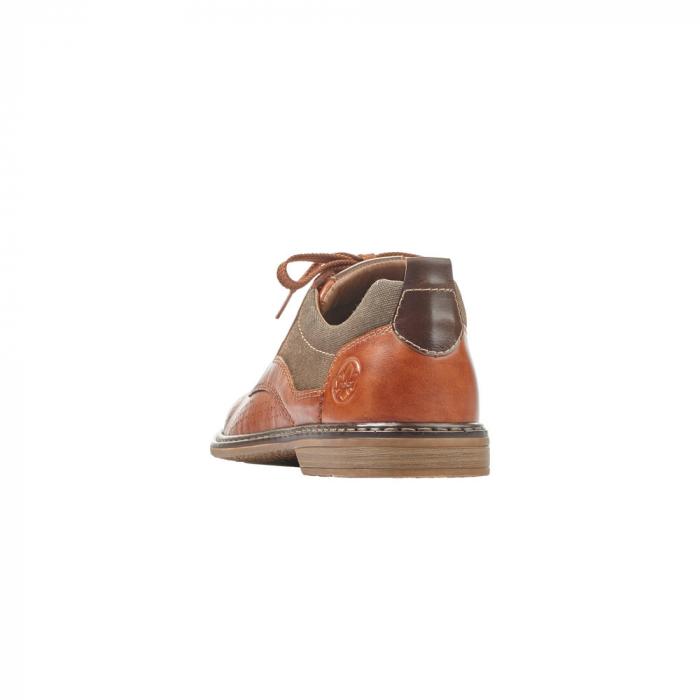 Pantofi barbati din piele naturala Rieker 13417-24, maro 5