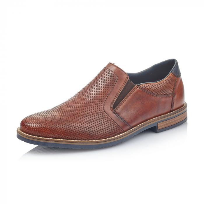 Pantofi barbati de vara, rieker 13571-24, coniac 0