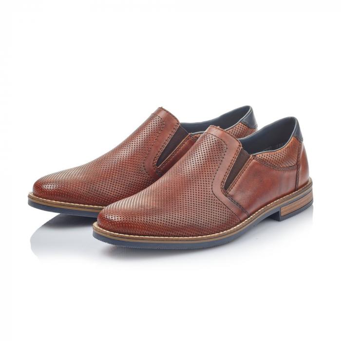 Pantofi barbati de vara, rieker 13571-24, coniac 6