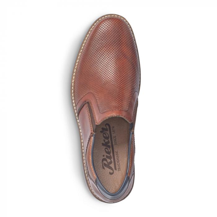 Pantofi barbati de vara, rieker 13571-24, coniac 4