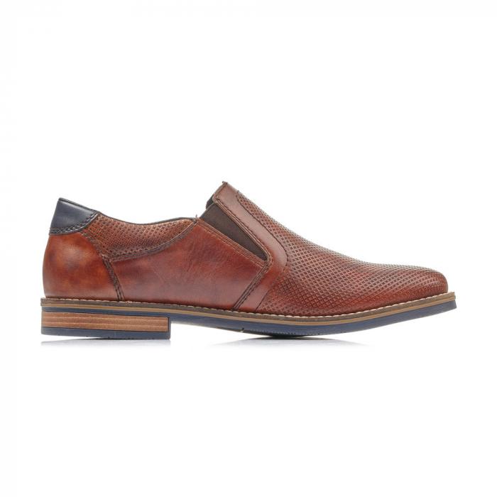 Pantofi barbati de vara, rieker 13571-24, coniac 2